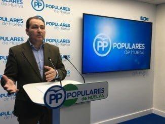 David Toscano (PP) dice que en Aljaraque hay ya un desfase de un millón de euros durante el año 2017