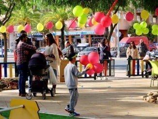 Fiesta infantil en un remodelado parque de El Molino
