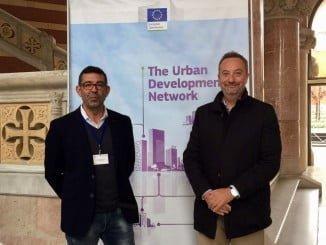 Luis Albillo y Manuel Gómez en el encuentro de EDUSI celebrado en Barcelona
