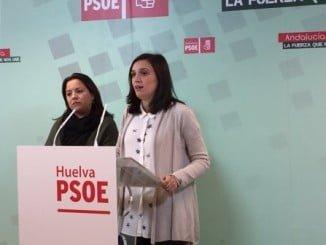 La parlamentaria andaluza María Márquez en rueda de prensa