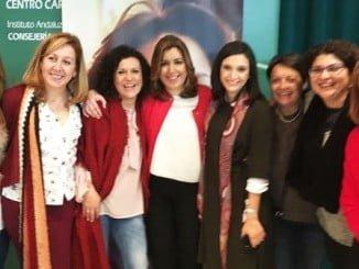 Encuentro de Formación y Reflexión Feminista en Baeza en el el que ha participado la socialista María Márquez