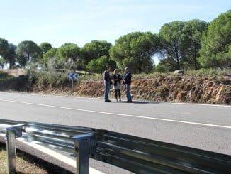 La diputada de Infraestructura ha visitado esta obra que une Huelva con la localidad sevillana de El Madroño