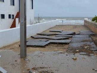 Imagen de los efectos del temporal del pasado mes de mayo en La Antilla