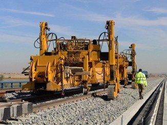 Imagen de trabajos de renovación de vía