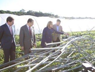 Bañez, durante su visita in situ a Palos, comprobó los desastres causados  por el tornado