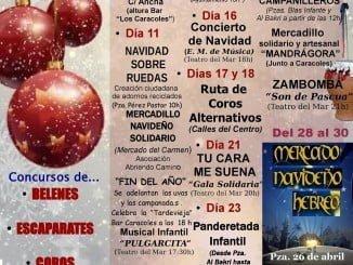 Cartel anunciador de los actos programados en Punta para esta Navidad