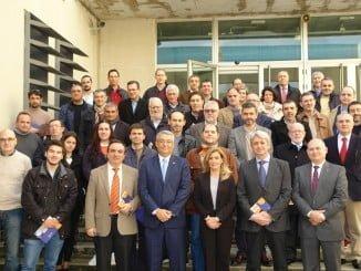 Foto de familia tras la presentación de la Memoria en el X aniversario de la creación de la Cátedra Aiqbe