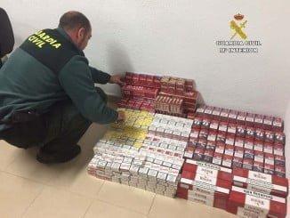 Las cajetillas incautadas pasan a disposición de la Delegación Provincial de Aduanas e Impuestos Especiales