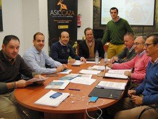 Junta directiva de ASICCAZA, reunida en noviembre