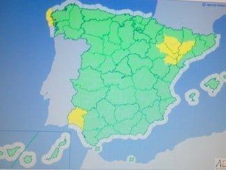 Huelva, una de las siete provincias españolas con aviso amarillo