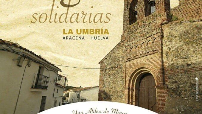 Cartel anunciador de las migas solidarias en La Umbría