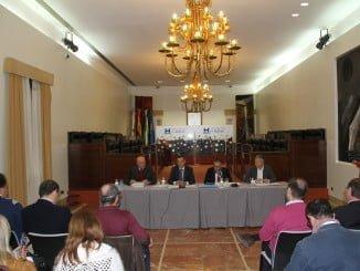 Sesión del Pleno del Patronato de Turismo de Huelva en la que se ha aprobado el presupuesto para 2016