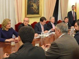 Reunión que en días pasados se mantuvo con la ministra Fátima Báñez para tratar de evaluar los daños
