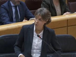 García Tejerina durante su intervención en el Senado