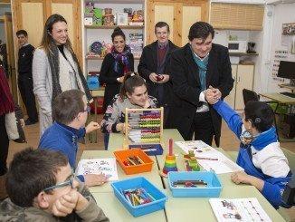 Visita del alcalde de Huelva a Aspapronias