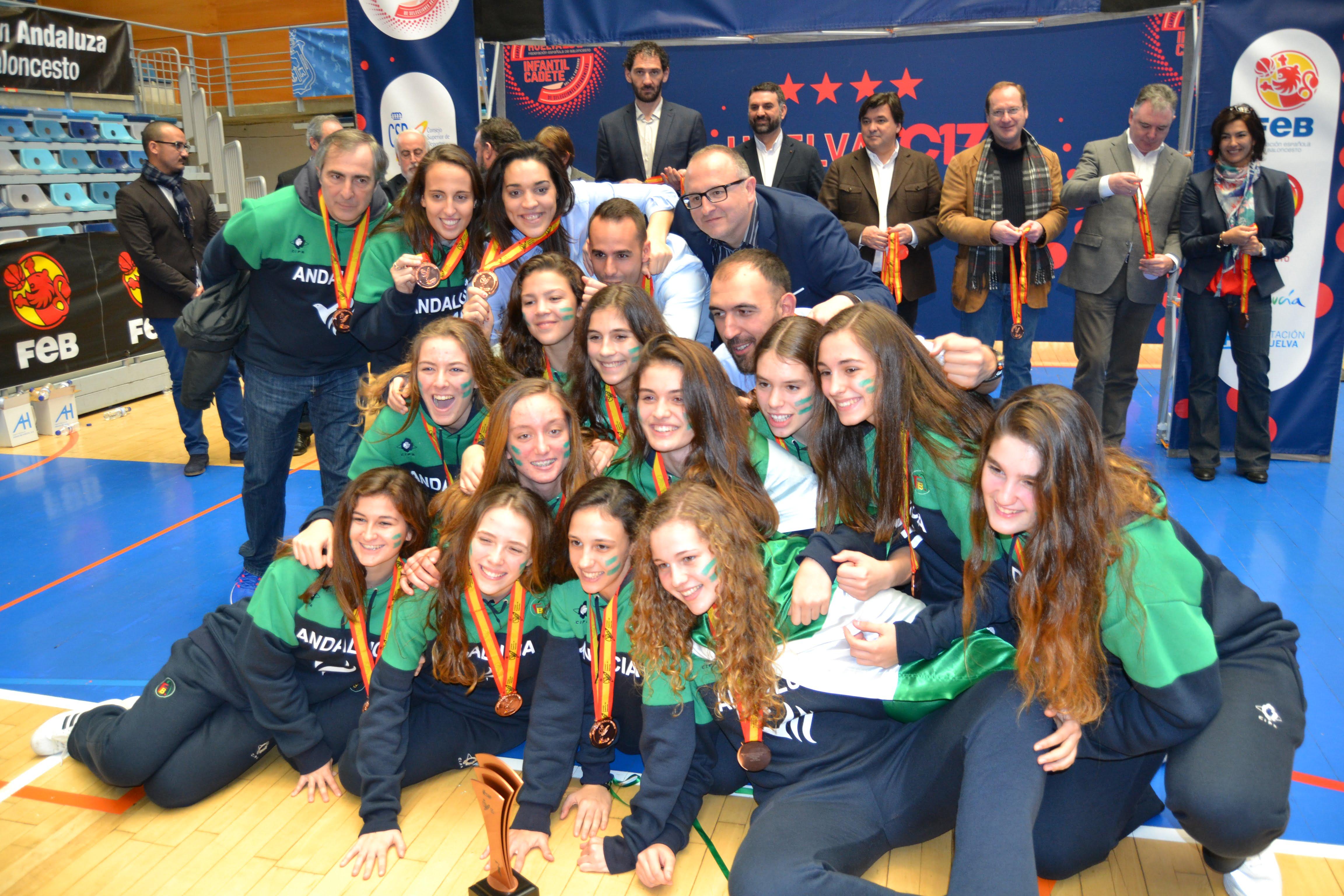 La selección de Andalucía cadete femenina logró el bronce.