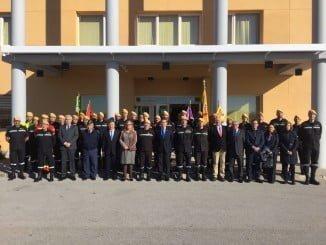 Foto de familia de los 8 subdelegados del gobierno en Andalucía y Antonio Sanz, delegado del Gobierno en Andalucía