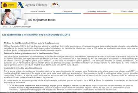 Las nuevas instrucciones de la Agencia Tributaria por la que se autoriza el aplazamiento del IVA a autónomos y empresas.
