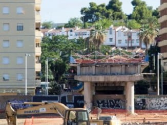 Obras de la nueva estación de tren que se construye en Huelva.