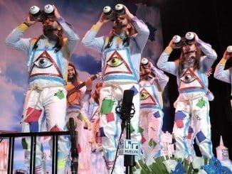 La murga de Punta Umbría 'Deja de pedir que no soy Cofidís' protagonizó la segunda jornada de las preliminares en el Gran Teatro.