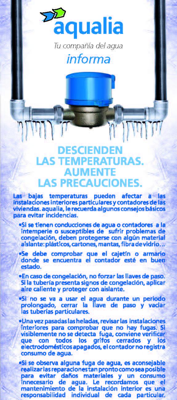 Aqualia-consejos básicos para proteger las instalaciones interiores de bajas temperaturas