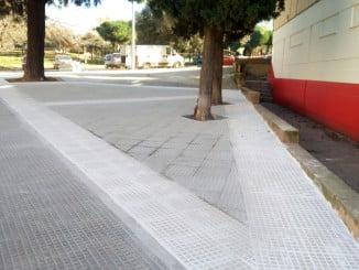 Nueva pavimentación en la calle Miguel Ángel Asturias