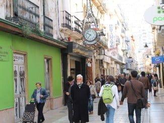 Comercios de las calles del centro de Huelva