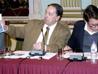 Enrique Figueroa junto al portavoz de Ciudadanos, Ruperto Gallardo