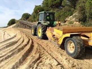 Las obras incluyen la gestión de la arena disponible en la zona y mejorar la accesibilidad