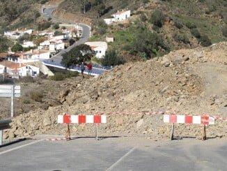 El corte se encuentra próximo al Puente sobre el Río Chanza que une España con Portugal