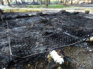 Esto es lo que ha quedado del incendio en las chabolas