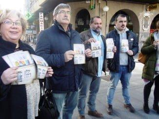Presentación de la campaña de IU sobre la precariedad en Huelva