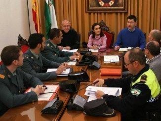 Reunión de la Junta Local de Seguridad en Valverde, presidida por la subdelegada del Gobierno