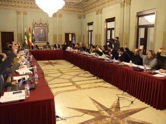 Imagen del primer Pleno ordinario del año en el Ayuntamiento de Huelva