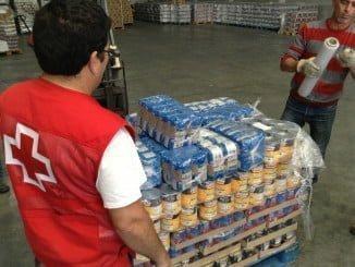 Cruz Roja ha sido una de las entidades encargadas de distribuir los alimentos