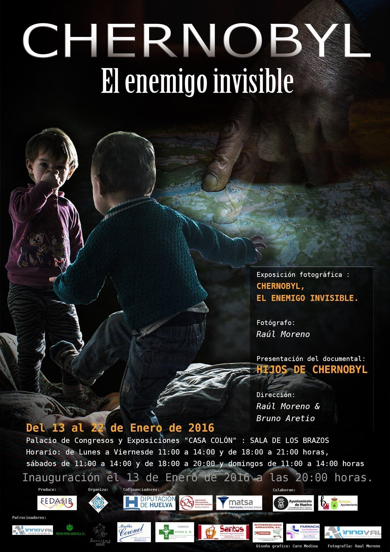 Cartel anunciador de la exposición y el documental sobre Chernobyl