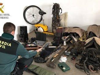 La Guardia Civil ha recuperado diferentes efectos sustraídos en los robos