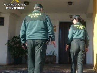 El tercer detenido fue identificado por Agentes de la Unidad de Seguridad Ciudadana de la Guardia Civil