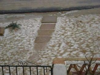 Nieve en la playa de La Antilla