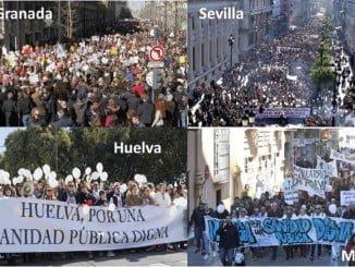 Cuatro ciudades andaluzas se han manifestado para pedir una sanidad digna