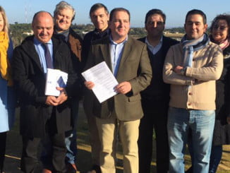 Imagen del pasado 29 de diciembre, cuando PP y Si Se Puede registraron la moción de censura