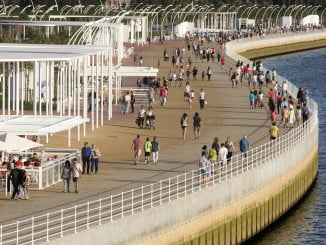 El paseo de la Ría acogerá el sábado el aula de sosteniblidad de la Universidad de Huelva.