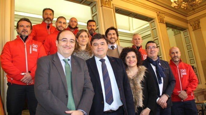 Ayuntamiento, Diputación, Giahsa, Aguas de Huelva y BUSF se unen por una misma causa