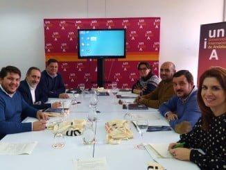 Reunión del vicerrector con los alcaldes de la Cuenca Minera