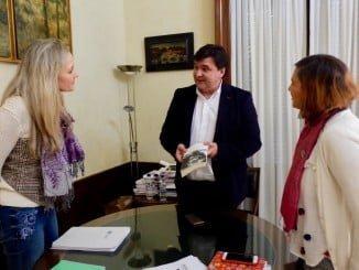 Reunión de representantes de Equo Huelva con el alcalde de la ciudad
