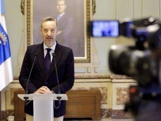 El portavoz del equipo de Gobierno del Consistorio, Manuel Gómez Márquez, en rueda de prensa