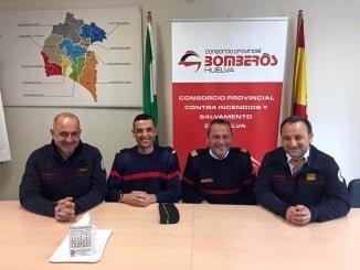 Reunión de miembros del Consorcio Provincial de Bomberos de Huelva con los de Vila Real de Santo Antonio.