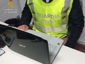 La Guardia Civil detuvo al individuo que robaba material informático para venderlo de segunda mano