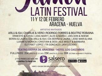Cartel anunciador del I Jamón Latin Festival que se celebrará en Aracena este fin de semana