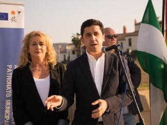 El alcalde de Ayamonte inauguró la pista deportiva de Costa Esuri